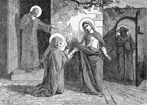 Pictorial Lives of the Saints illustration for The Visitation of the Blessed Virgin
