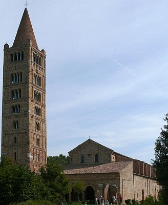Pomposa Abbey, photographed by Zyance, September 2006; swiped from Wikimedia Commons