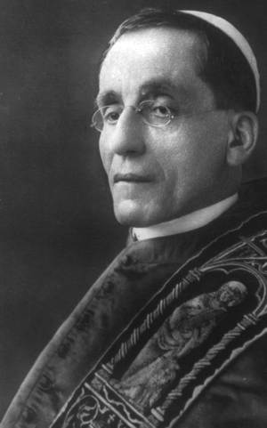 photograph of Pope Benedict XV; c.1915, photographed unknown; United St