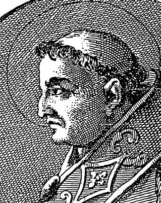 illustration of Pope Celestine I, 1899; swiped from Wikimedia Commons