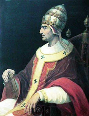 17th century portrait of Pope Gregory XI, Avignon, France, artist unknown; swiped from Wikimedia Commons; click for source image