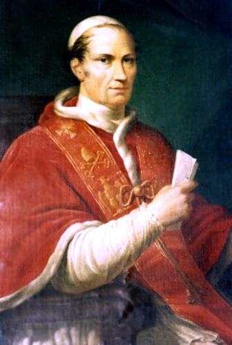 anonymous 19th century painting of Pope Leo XII; swiped from Wikimedia Commons