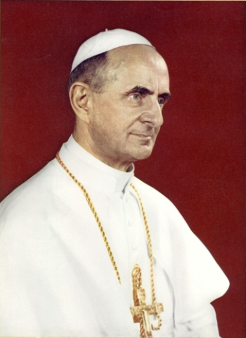 official portrait of Pope Paul