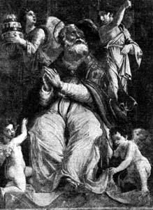 illustration of Pope Saint Damasus I, artist unknown