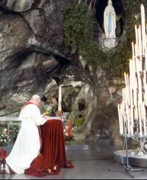 Pope Saint John Paul II and Our Lady of Lourdes
