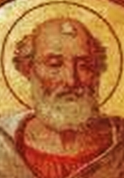 detail of a portrait of Pope Saint Julius I