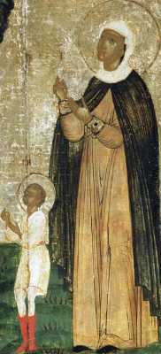 image of Saints Quricus and Juliet from a detail of a 17th century Russian icon depicting their lives
