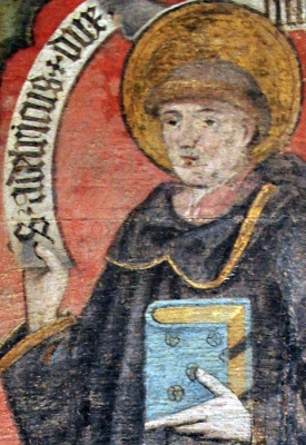 painting of Saint Adalrich, Saint Peter un