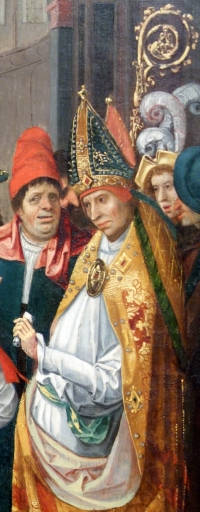 detail from Saint Anno of Cologne Receiving the Donation of Siegburg, by the Master of the Saints Agilolfus and Anno, 1520, Altarpi