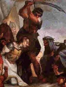 the martyrdom of Saint Antoninus of Piacenza; swiped from Wikimedia Commons