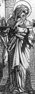 illustration of Saint Basillisa; from 'Little Pictorial Lives of the Saints'