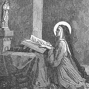 illustration of Saint Bertha of Blangy from Pictorial Lives of the Saints