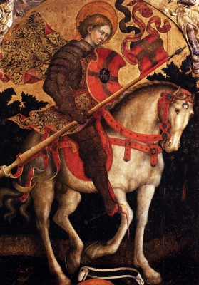 painting of Saint Chrysogonus, c.1450 by Michele Giambono; San Treviso, Venice, Italy; swiped from Wikimedia Commons