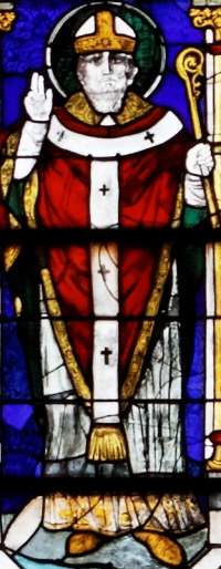 detail of a stained class window