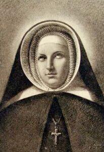 antique Saint Emily de Vialar holy card