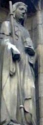 statue of Saint Ethelburga of Faremoutier, date unknown, artist unknown; church of All Hallow's, B