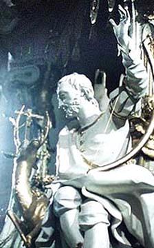 statue of Saint Eustachius by Johann Michael Feichtmayr (1709-1772), in the Basilika Vierzehnheiligen in Germany, photographer unknown