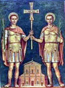 Saint Felix and Saint Nabor; swiped from Santi e Beati; click for source image