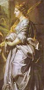 detail from 'Saint Gregory, Saint Maurus, Saint Papianus and Saint Domitilla', by Peter Paul Rubens, 1606, oil on canvas, Gemaldegalerie, Berlin, Germany