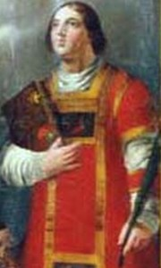 detail of a holy card of