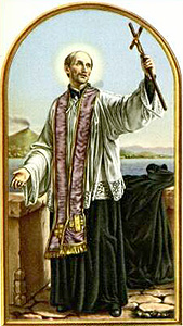 holy card of Saint Francis; date unknown, artist unknown; thanks essepi