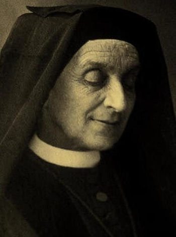 detail of a photograph of Mother Françoise de Sales Aviat; 1895, photographer unknown; swiped from Wikimedia Commons; click for source image