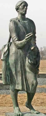 statue of Saint Gaudentius of Gniezno, artist unknown, Libice nad Cidlinou, Czech Republic