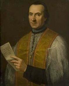 detail of a portrait of Saint Giovanni Battista Rossi, 1781, by Gianantonio Mardsocci; swiped off Wikimedia Commons