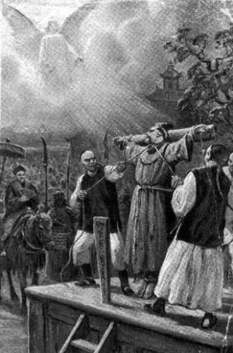 illustration of the martyrdom of Saint Giovanni of Triora