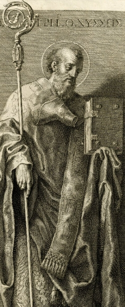 illustration of Saint Gregory of Nyssa; by Francesco Bartolozzi after Domenichino, 19th century; swiped from Wikimedia Commons; click for source image