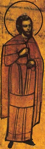 19th century icon of Saint Gurias of Edessa; swiped from Wikimedia Commons