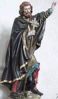 statue of Saint Heimrad, date, artist and location unknown; swiped from Santi e Beati