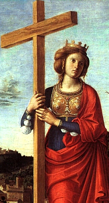 detail from 'Saint Helena'; by Cima da Conegliano, c.1495