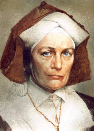portrait of Saint Hildegard of Bingen; date unknown, artist unknown; swiped from Wikimedia Commons