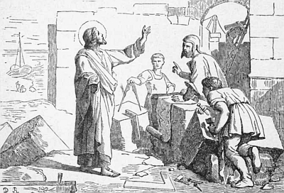 illustration of Saint Honoratus of Arles from 'Pictorial Lives of the Saints', 1892