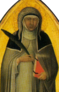detail from the Saint Humility altar piece by Pietro Lorenzetti, 1316