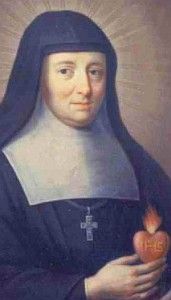 detail of a portrait of Saint Jeanne de Chantal, date unknown, artist unknown; swiped off the Wikimedia web site