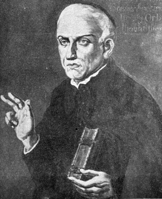 illustration of Saint José de Anchieta; published by the book 'Jesuit Letters', 1933, artist unknown; swiped from Wikimedia Commons; click for source image