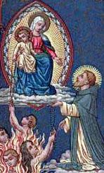 detail from an antique Dutch holy card of Saint Juan Macias