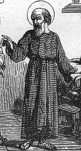 illustration of Saint Julian; from 'Little Pictorial Lives of the Saints'