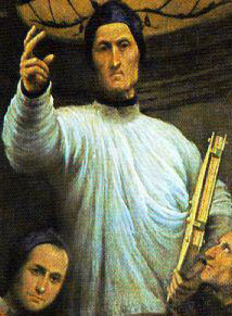 detail from the painting 'St Lorenzo Giustiniani and Other Saints'; 1532 by Il Pordenone; Accademia of Venice, Italy; swiped from Wikimedia Commons; click for source image