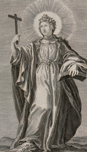 engraving of Saint Leocadia of Toledo, date and artist unknown; Wellcome Museum, London, England; swiped from Wikimedia Commons