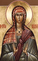 Russian icon of Saint Lydia Purpuraria, date unknown, author unknown