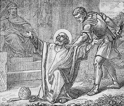 illustration of the martyrdom of Saint Maximilian; from 'Bavaria Sancta', 1861, artist unknown