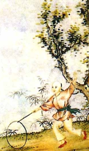 detail of a holy card of Saint Paulus Lang Fu, date and artist unknown; swiped from Santi e Beati