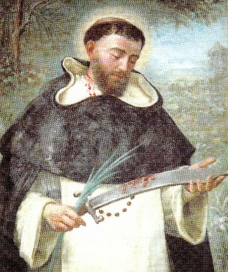 detail of a portrait of Saint Pere Josep Almató Ribera Auras, c.1890, artist unknown; swiped from Wikimedia Commons