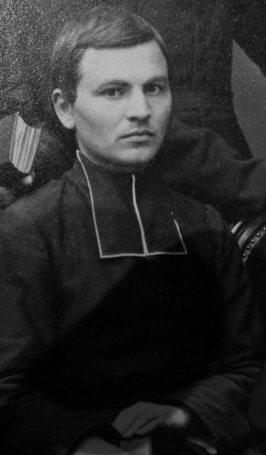 photograph of Saint Pierre-Henri Dorie in the Paris Foreign Missions Society seminary, 1864; swiped from Wikimedia Commons