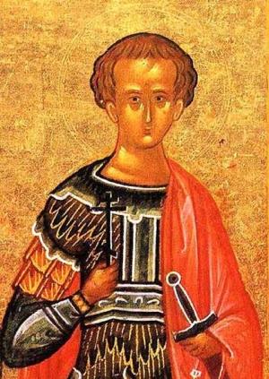 icon Saint Polieuctus of Caesarea, date and artist unknown; swiped from Santi e Beati