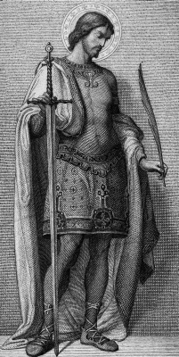 19th century engraving of Saint Theodore Stratelates by R Stang; swiped from WellCome Images