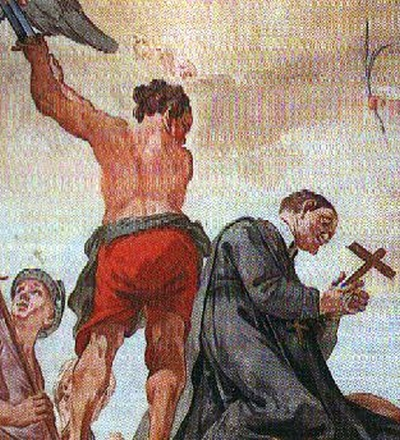 the martyrdom of Saint Thiento of Wessobrunn